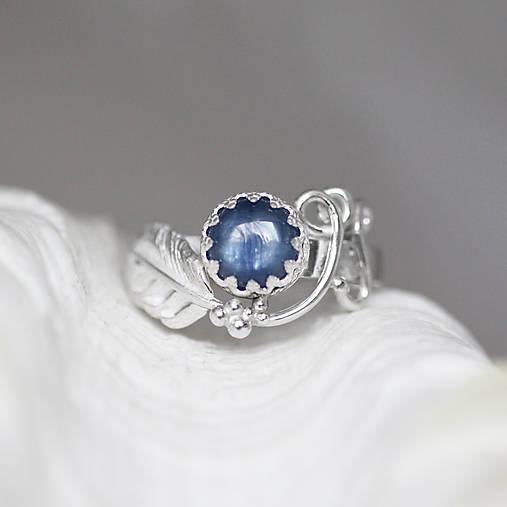 Strieborný anjelský prsteň s kyanitom - S Tebou