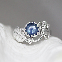 Prstene - Strieborný anjelský prsteň s kyanitom - S Tebou - 10176963_