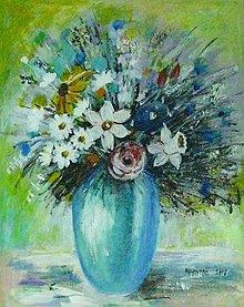 Obrazy - Kvety vo váze I. - 10174033_