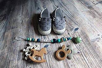 Detské doplnky - držiak na cumeľ alebo hryzátko (Olino) - 10174138_