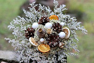 Dekorácie - Vianočná kytica - 10174610_