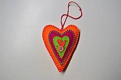 Srdiečko (oranžovo-ružové)