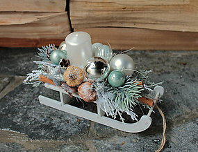Dekorácie - vianočný svietnik _zelený - 10178394_