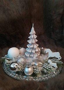 Dekorácie - Vianočný svietnik - 10178616_