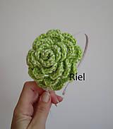 Ozdoby do vlasov - Čelenka s háčkovaným kvetom - 10175459_