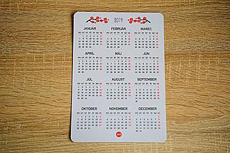 Papiernictvo - Kalendár 2019 - magnetický na chladničku - 10175507_