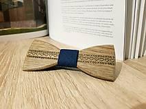 Doplnky - Gravírovaný drevený motýlik - 10177179_