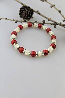 Náramky - perleť a koral náramok - 10178133_