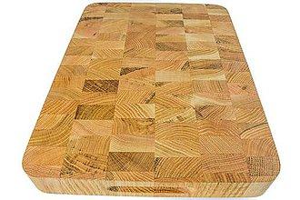 Pomôcky - drevená doska na krájanie kocka - 10177435_