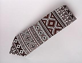 Doplnky - kravata folk  (Hnedá) - 10174717_