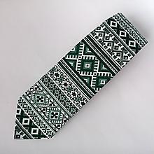 Doplnky - kravata folk  (Zelená) - 10174790_