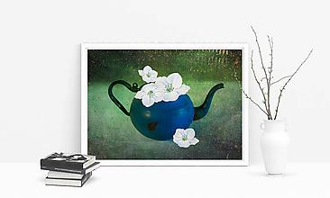 Obrazy - 4 ČEREŠŇOVÉ KVETY fotoplátno 50x40 cm (tlač na 260g papier A4) - 10175438_