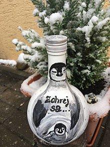 Nádoby - Fľaša - tučniak - 10177689_