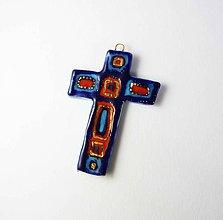 Dekorácie - Tana šperky - keramika/zlato, krížik na stenu - 10178241_