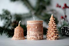 Svietidlá a sviečky - Sada vianočných sviec * s vôňou * - 10176415_