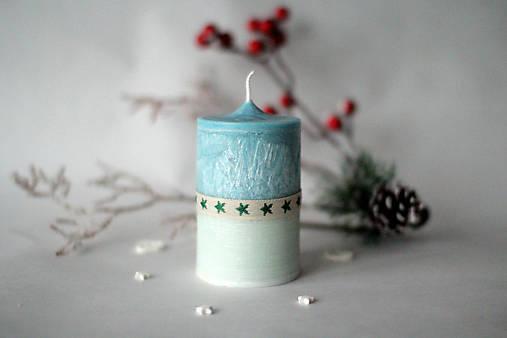 Modro biela sviečka