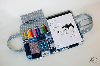 Detské tašky - Detský kufrík - pastelkovník Na mori (grey) - 10178675_