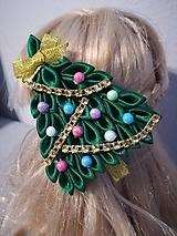 Ozdoby do vlasov - Vianočný stromček - 10177491_