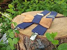 - Pánsky drevený motýlik a traky - 10174662_