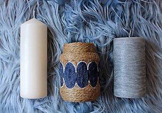 Dekorácie - ELENE recyklovaná minimalistická váza - 10175850_