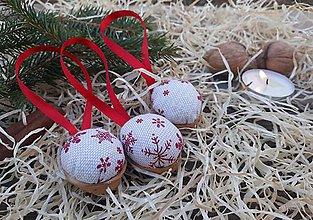 Dekorácie - Vianočné oriešky - 10178462_