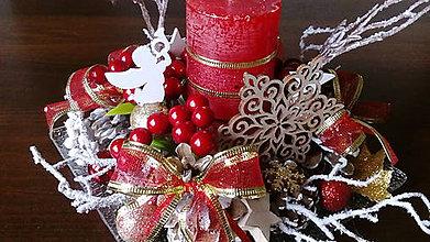 Dekorácie - Vianočný svietnik - 10175541_