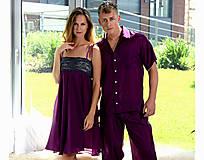Pyžamy a župany - Merlot - nočná košeľa, hodváb - 10176703_