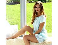 Pyžamy a župany - Lilly - nočná košeľa, bio bavlna, modrá - 10176808_