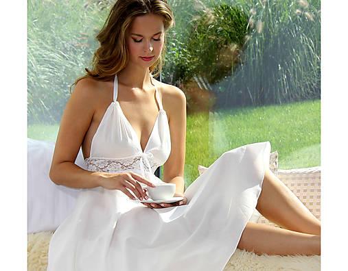 Pyžamy a župany - Lullaby biela - nočná košeľa  - 10176732_