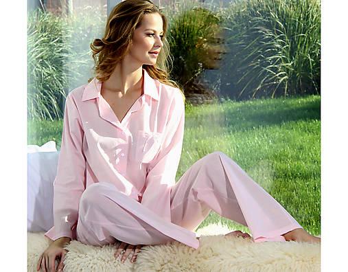Pyžamy a župany - Lotus - košeľa s nohavicami, rôzne farby, bio bavlna - 10176741_