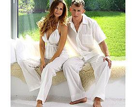 Pyžamy a župany - Lotus - pánska košeľa s krátkym rukávom a dlhými nohavicami - 10176751_