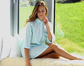 Pyžamy a župany - Lotus flanel – dlhá košeľa, rôzne farby - 10176759_