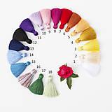 Náušnice - Strapcové fialové náušnice + 17 farieb - 10176550_