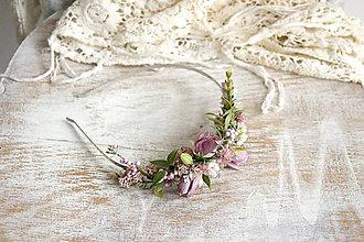 Ozdoby do vlasov - Kvetinová čelenka ,,fialková,, - 10177822_