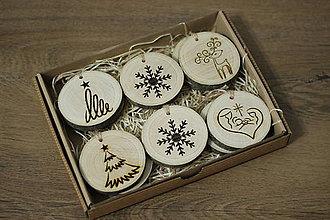Drobnosti - Sada drevených vianočných ozôb/10ks/ - 10175885_