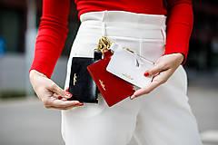 Peňaženky - Kožená kľúčenka/peňaženka MARATHON - červená (Čierna) - 10175290_