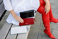 Peňaženky - Dámska kožená peňaženka veľká MARIMA  (Whiskey hnedá) - 10175314_
