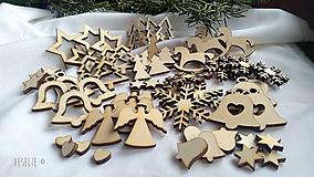 Polotovary - Vianočný balíček na aranžovanie - 10177087_