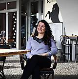 Svetre/Pulóvre - Sivý pulóver s čiernou krajkou - 10177832_