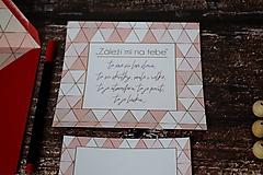 Papiernictvo - Pohľadnica - Záleží mi na tebe... - 10174814_
