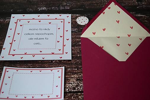 Pohľadnica - Milujem ťa celú...