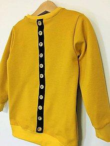 Detské oblečenie - Mikina horčicová - Revel - 10177155_