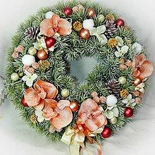 Dekorácie - Vánoční věnec - Light Orange - 10178041_