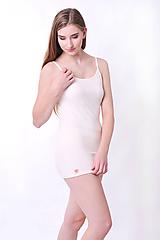 Tielka - Tielko dlhé z bio bavlny (S - Biela) - 10177307_