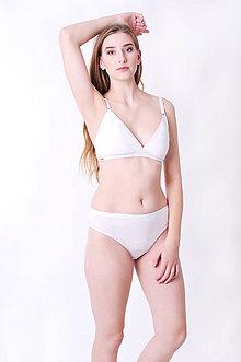 Bielizeň/Plavky - Nohavičky - klasické bio bavlna (S - Béžová) - 10176733_