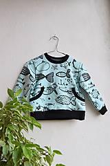 Detské oblečenie - Rybičková mikina v. 86 - 10178129_