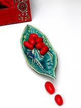 Nádoby - Miska tyrkysová v tvare lodičky - 10176246_