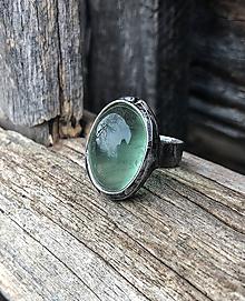 Prstene - Fluorit svetlejší - prsteň - 10177239_