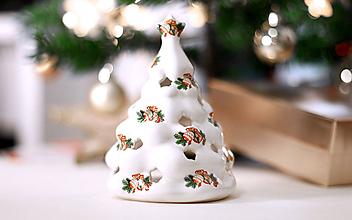 Svietidlá a sviečky - Svietiaci stromček - vianočný svietnik-tienidlo - 10177076_