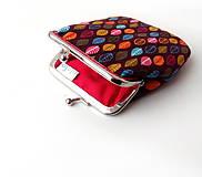 Peňaženky - Peňaženka Lístky na hnedej - M - 10174511_
